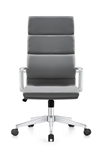 Woodstock Marketing Jimi High Back Gray Leather Office Chair