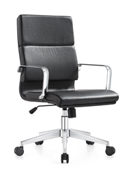Jimi Black Leather Conference Chair by Woodstock Marketing