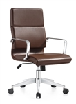Jimi Brown Leather Conference Chair by Woodstock Marketing