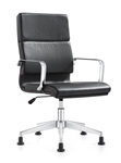 Jimi Black Leather Side Chair by Woodstock Marketing