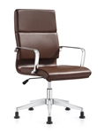 Jimi Brown Leather Side Chair by Woodstock Marketing