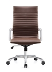 Janis Contemporary Brown Leather Desk Chair by Woodstock