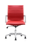Janis Ribbed Back Red Leather Side Chair by Woodstock Marketing