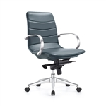 Marie Charcoal Blue Ribbed Back Boardroom Chair by Woodstock Marketing