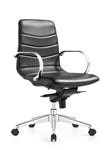 Marie Carbon Black Ribbed Back Boardroom Chair by Woodstock Marketing
