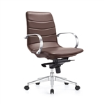 Marie Chestnut Brown Ribbed Back Boardroom Chair by Woodstock Marketing