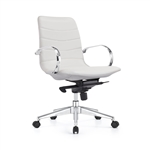 Marie Cloud White Ribbed Back Boardroom Chair by Woodstock Marketing