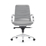 Marie Midtown Gray Ribbed Back Boardroom Chair by Woodstock Marketing