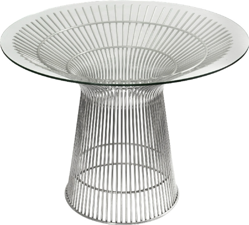 santana series modern round office table with glass top and metal