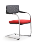 Woodstock Marketing Shankar Series Stackable Red Side Chairs