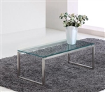 Woodstock Marketing Sly Contemporary Glass Coffee Table