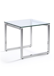 Woodstock Marketing Sly Series Glass End Table