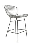 Contemporary Polished Wire Frame Metal Stool by Woodstock