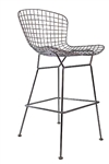 Contemporary Polished Metal Bar Stool by Woodstock