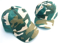 Baby Sun Hat  Green Camouflage