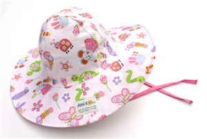 Baby Girl Sun Hat With Wide Brim