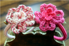 Girls Crochet Head Bands and Bows Hand Made