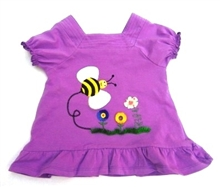 Best Sun Protection Bee-T-shirt for baby girl