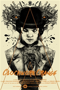 A Clockwork Orange Movie Poster by Zakuro Aoyama