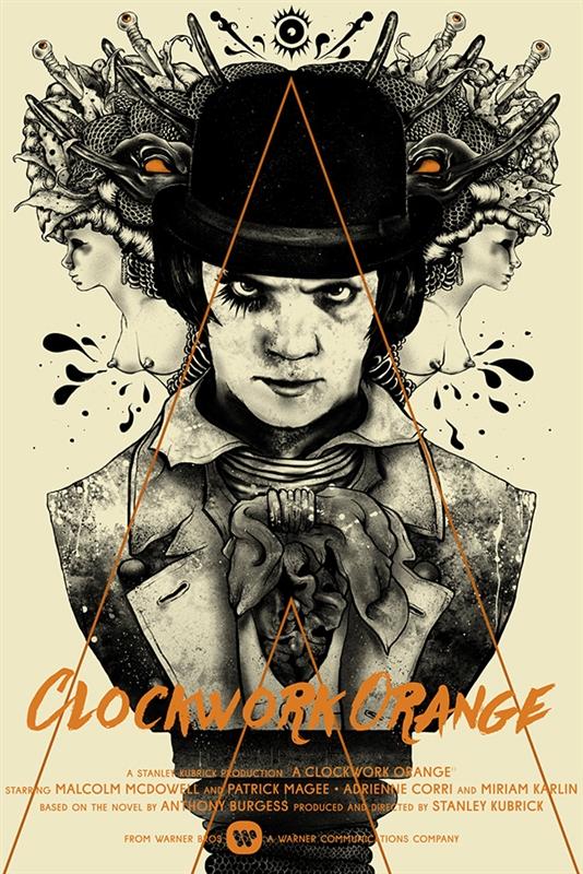 A Clockwork Orange Movie Poster By