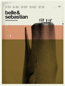 Belle And Sebastian poster by Concepción Studios