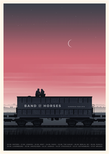 Band Of Horses Concert Poster by Simon Marchner