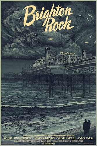 Brighton Rock movie poster by Karl Fitzgerald