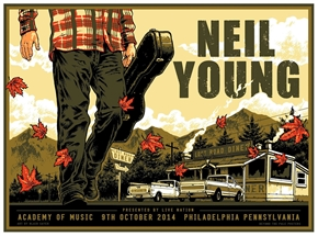 Neil Young Concert Poster by Blair Sayer