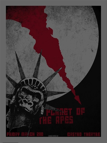 Planet Of The Apes Castro Theatre Poster by David O'Daniel AKA Alien Corset
