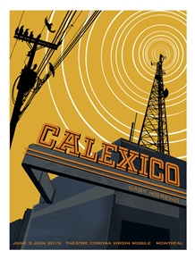 Calexico Concert Poster by Pat Hamou