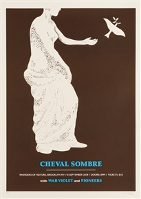Cheval Sombre concert poster by Craig Carry