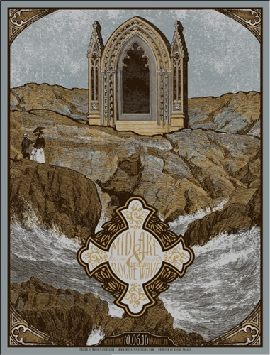 Midlake Concert Poster (blue) by Drew Binkley