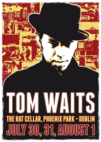 Tom Waits Concert Poster