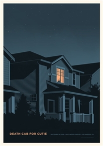 Death Cab For Cutie Concert Poster by Simon Marchner
