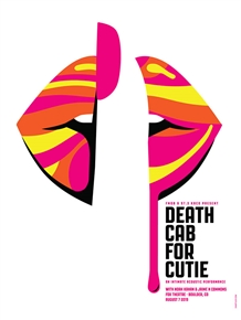 Death Cab For Cutie Concert Poster by Dan Stiles