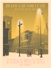 Death Cab For Cutie Concert Poster by Luke Martin