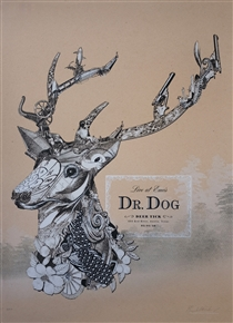 Dr. Dog Concert Poster by  Liz Roseberry
