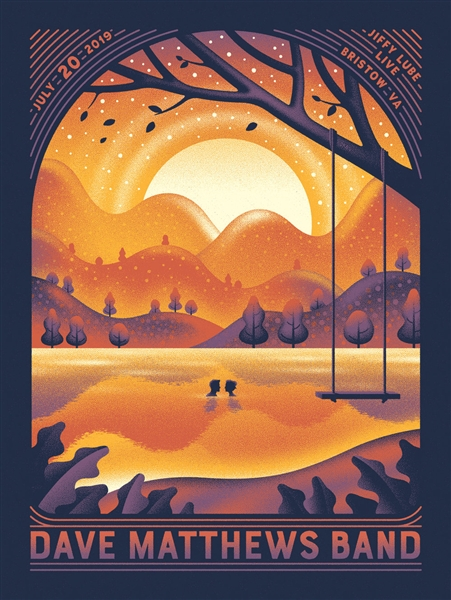 Dave Matthews Band Concert Poster by DKNG