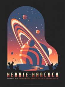 Herbie Hancock Concert Poster by DKNG