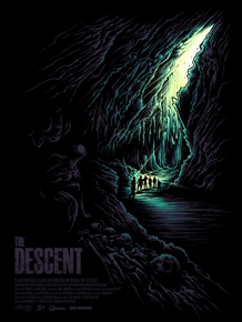 The Descent Movie Poster by Dan Mumford