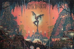 Dave Mathews Concert Poster by Luke Martin
