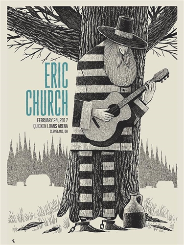 Eric Church Concert Poster by Methane Studios