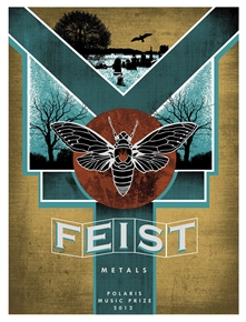 Feist Concert Poster by Pat Hamou