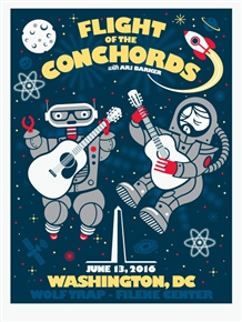 Flight Of The Conchords Concert Poster by Don Pendleton