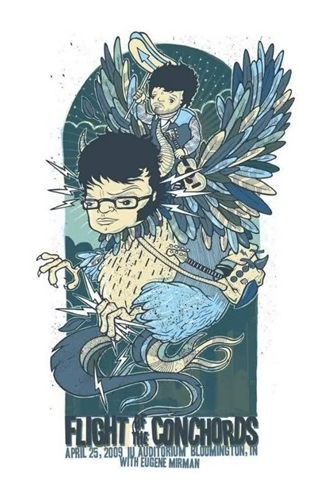 Flight Of The Conchords Concert Poster by Drew Millward