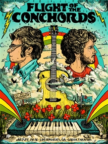 Flight Of The Conchords Concert Poster by Zeb Love