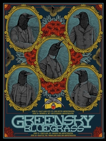 Greensky Bluegrass Concert Poster by Pat Hamou