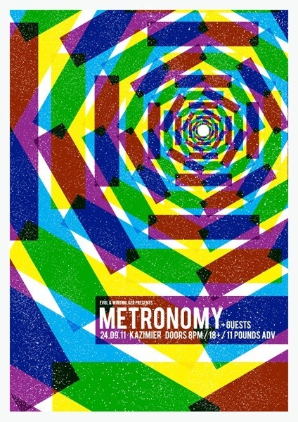 Metronomy Concert Poster by Gary McGarvey