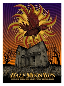Half Moon Run Concert Poster by Pat Hamou