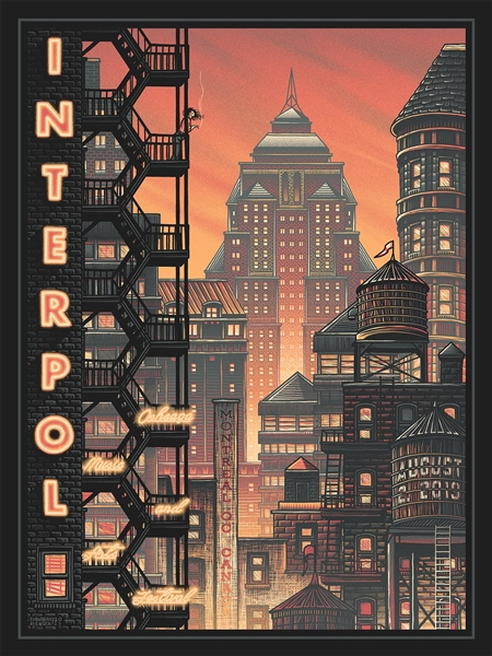Interpol Concert Poster by Luke Martin